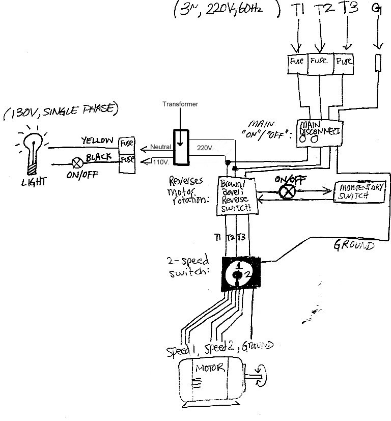 120v Drill Press On  Off Switch Wiring Diagram