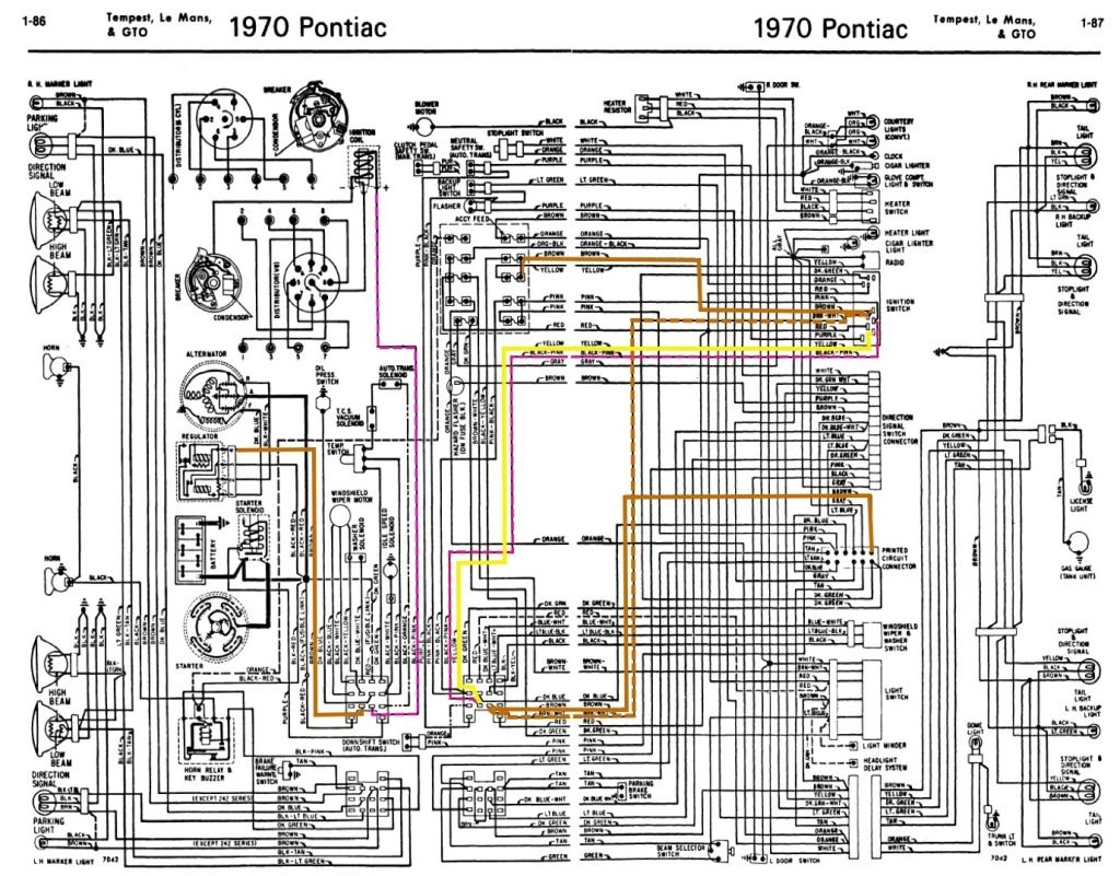 1970 Pontiac Lemans Alternator Wiring Diagram