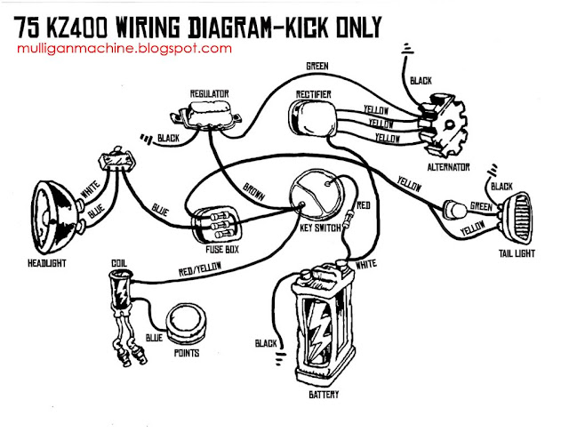 1976 Kz400 Wiring Diagram