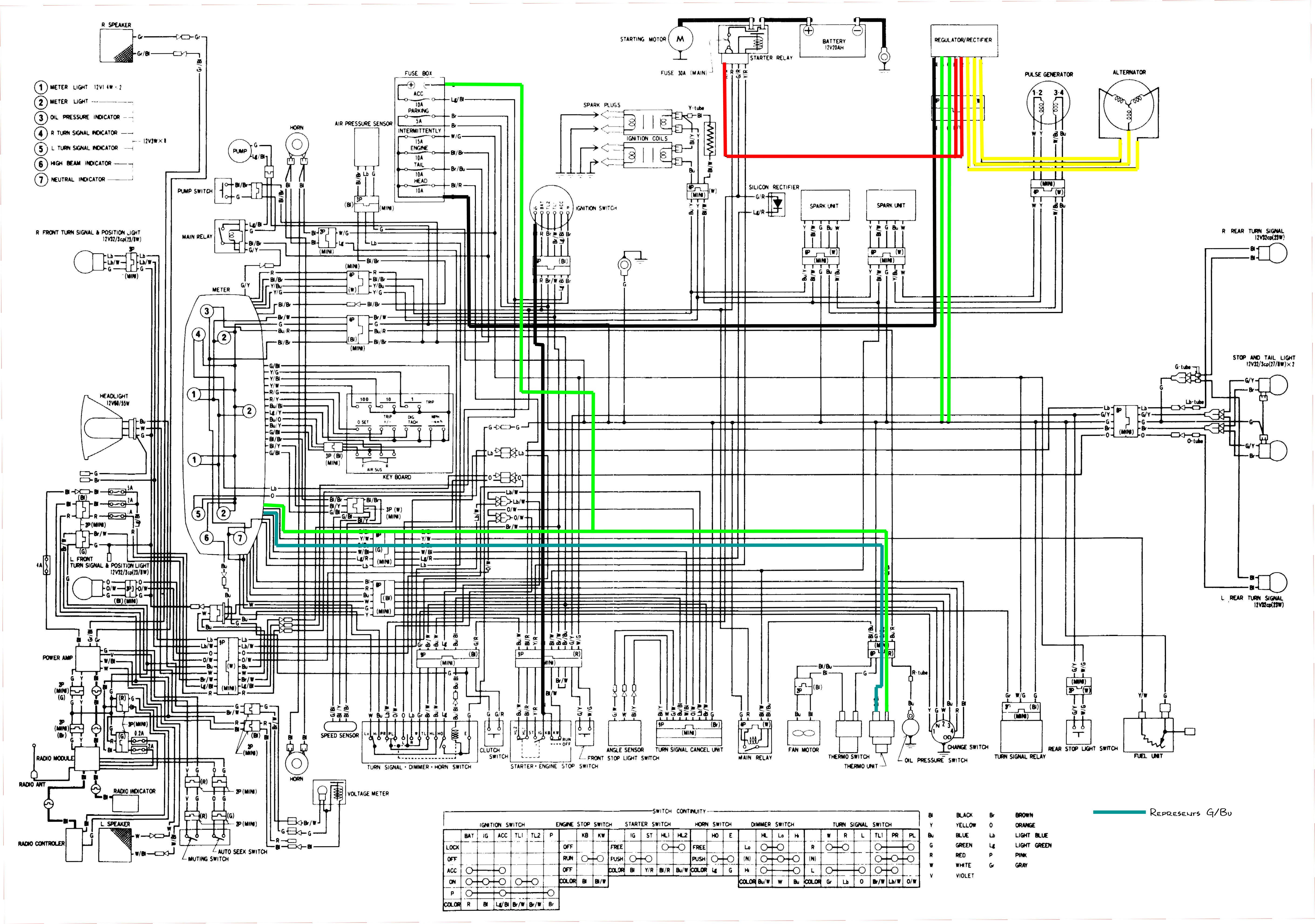 1982 Honda Goldwing Voltmeter Wiring Diagram