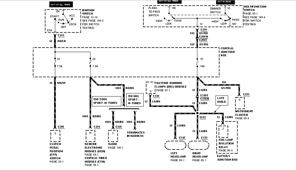 1987 Mustang Anti Slosh Module Wiring Diagram