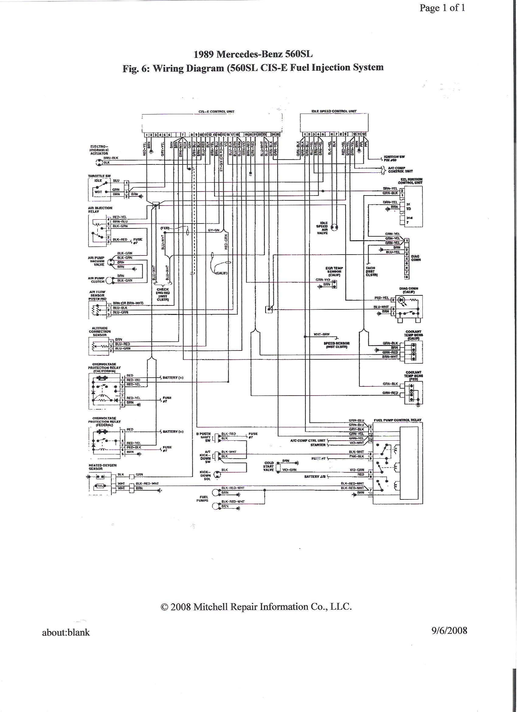 1989 560sl Mirror Switch Wiring Diagram