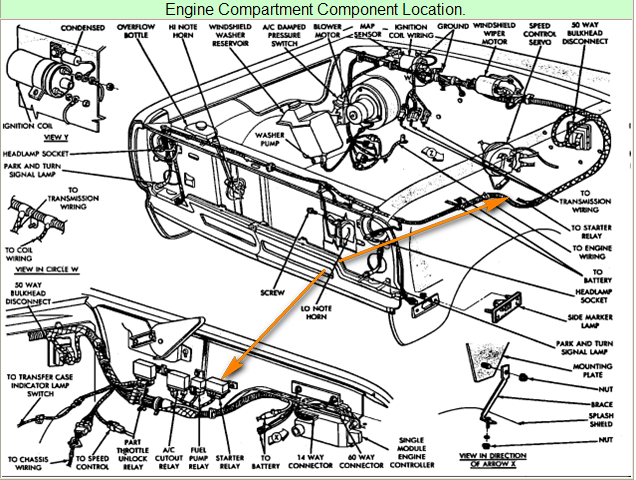 1989 Dodge Pickup D150 Wiring Diagram