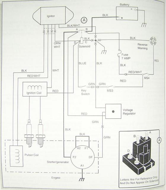1989 Gas Marathon Gx444 2-cycle 12v Wiring Diagram Wiring Diagram For Ezgo Golf Cart on