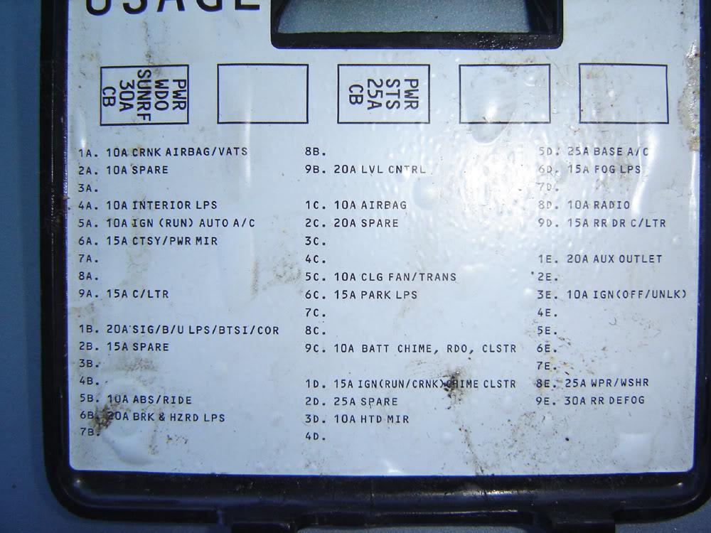 1992 Buick Lesabre Fuse Box Diagram