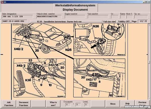 1995 W140 Starter Wiring Diagram