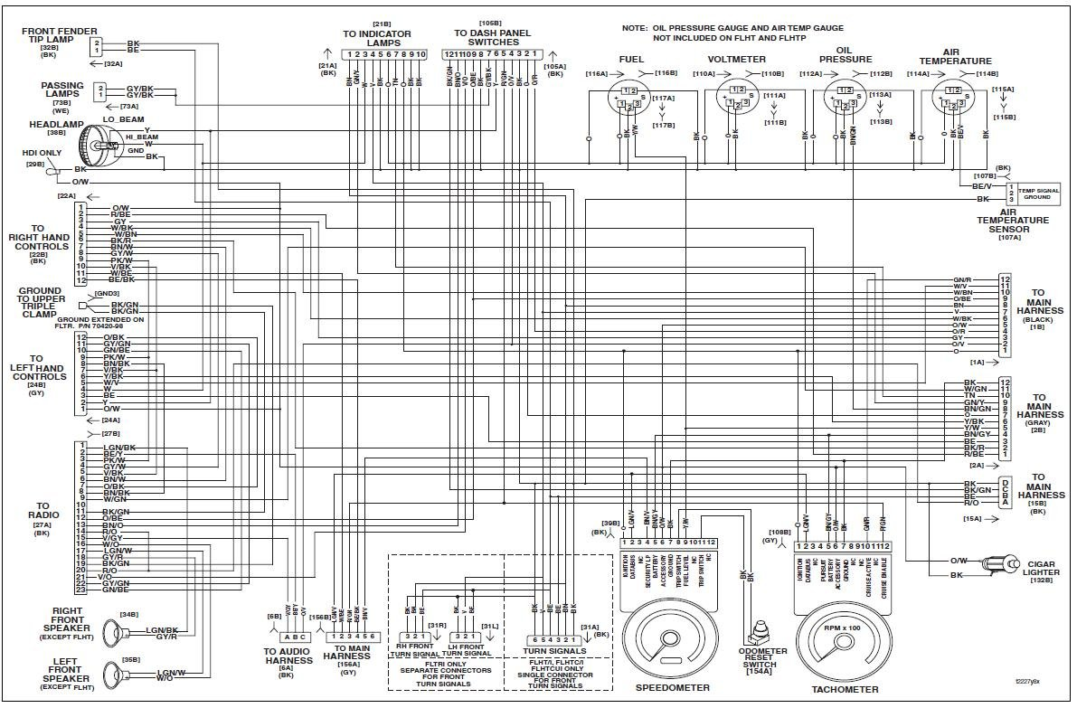 1996 Harley Flhr Headlight Wiring Diagram