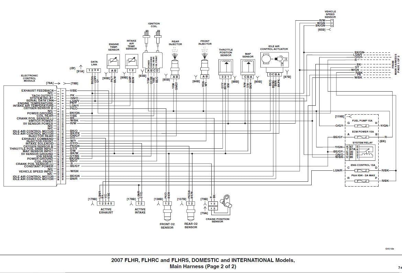 1996 Harley Flhr Headlight Wiring Diagram on