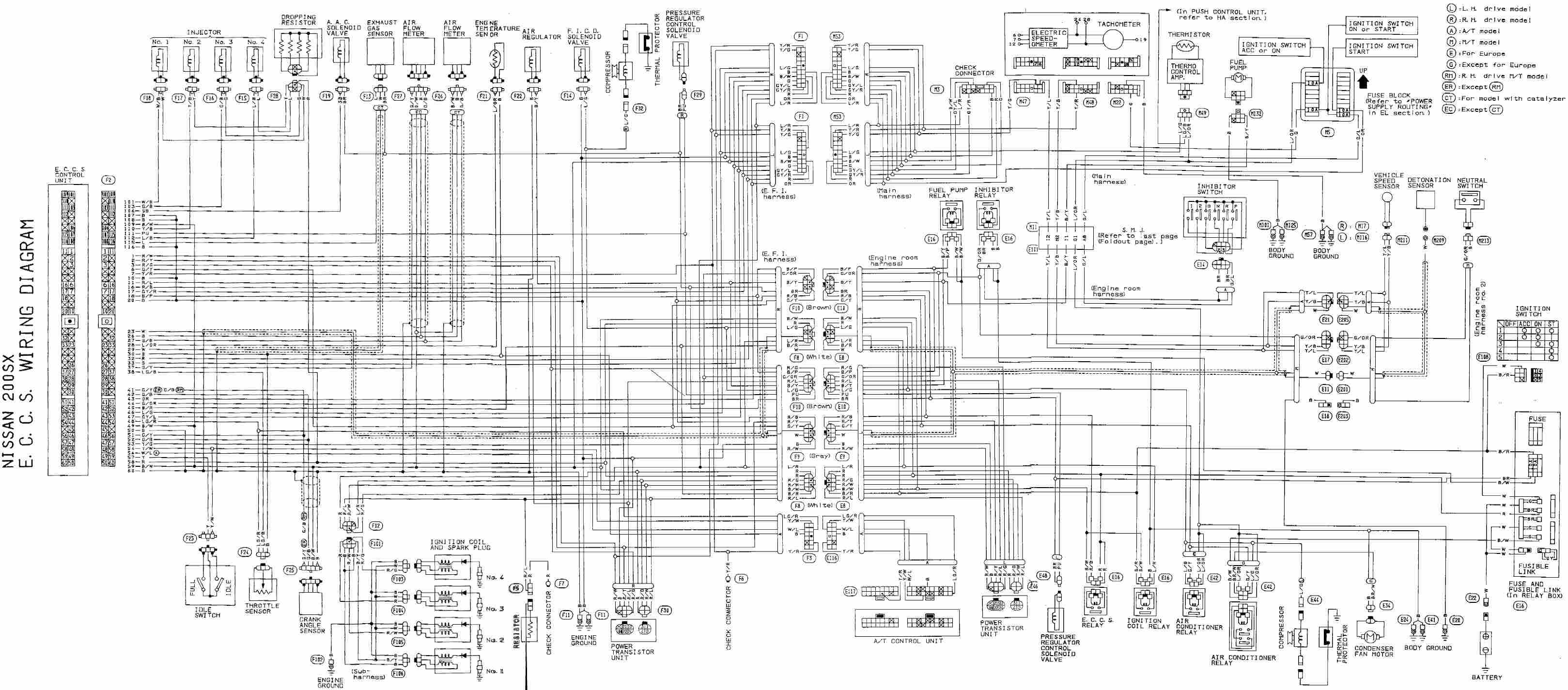 1996 nissan sentra radio wiring harness diagram wiring Nissan Bose Radio Wiring Diagram
