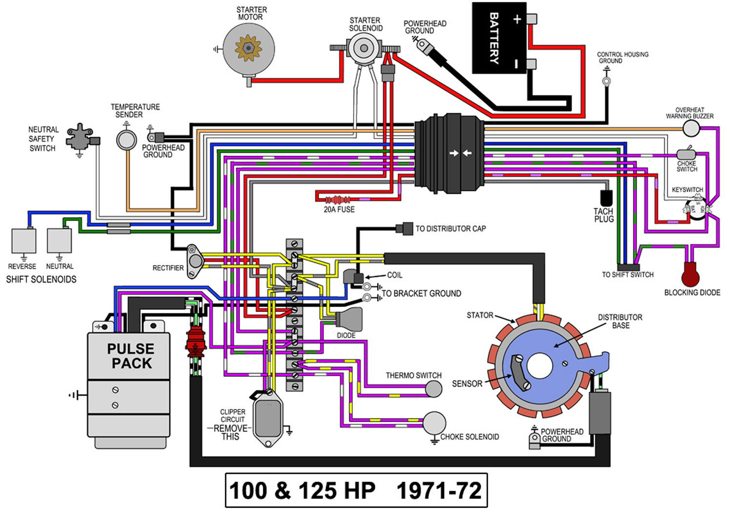 1997 Nitro Mercury Outboard Trim Switch Wiring Diagram