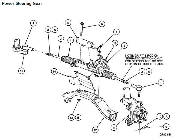 1999 Ford Taurus Rack And Pinion Diagram