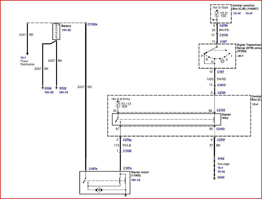 2002 Ford F150 Starter Wiring Diagram 5.4l