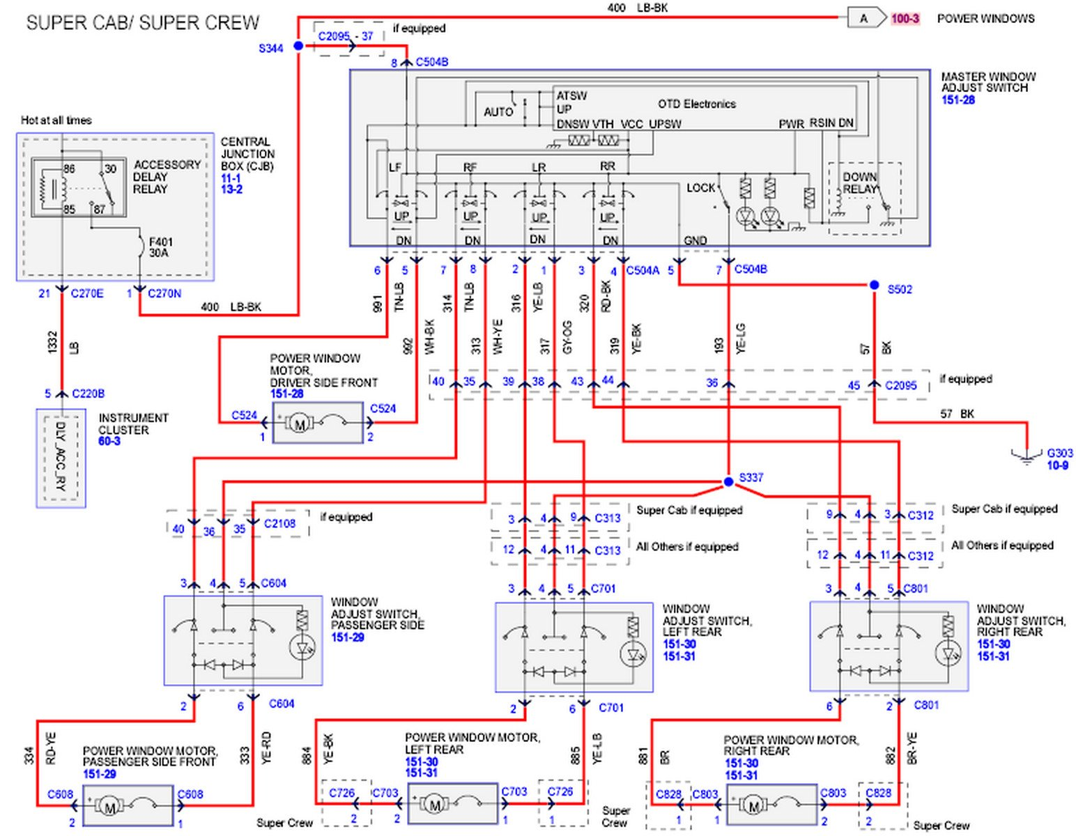 2003 Ford F150 Supercab Window Switch Wiring Diagram