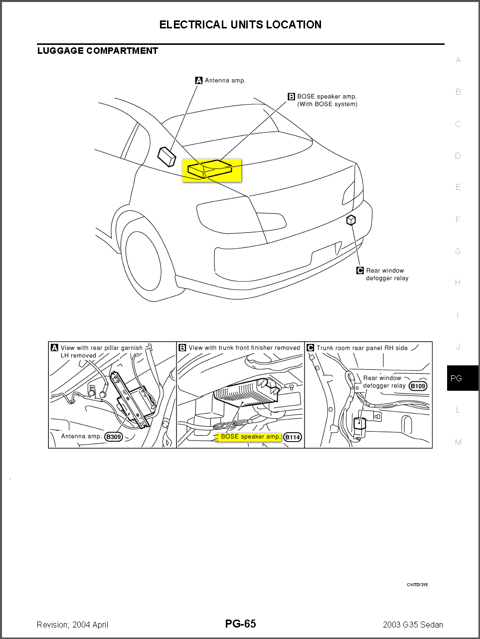 2003 Infiniti G35 Coupe Stereo Wiring Diagram