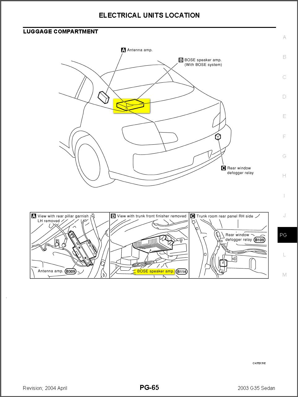2008 Infiniti G35 Wiring Diagram