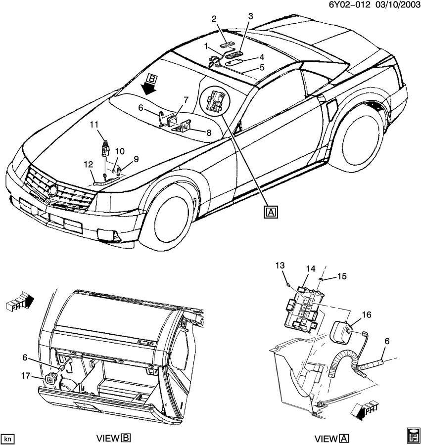 2004-2009 Cadillac Srx Motor Wiring Diagram