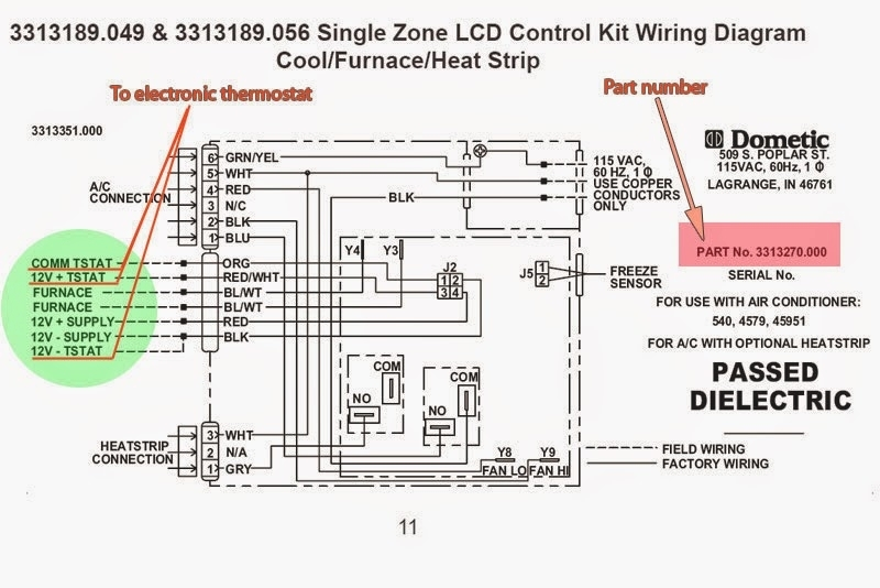 2005 Dometic Rv Air Conditioner Wiring Diagram