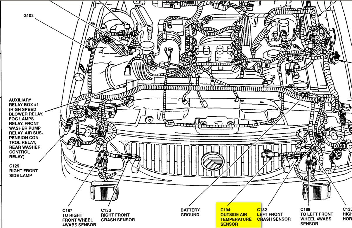 2005 Mercury Mountaineer Coolant Temperature Gauge Wiring Diagram