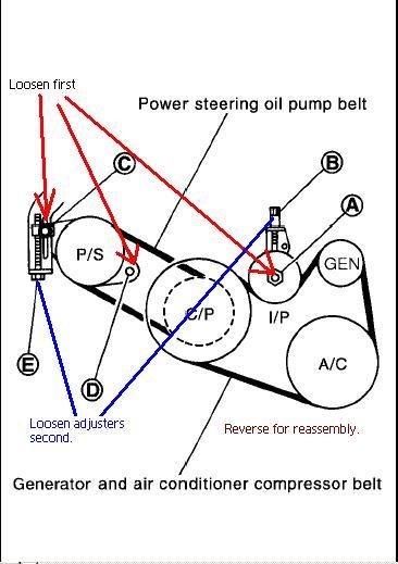 2007 Nissan Maxima Serpentine Belt Diagram