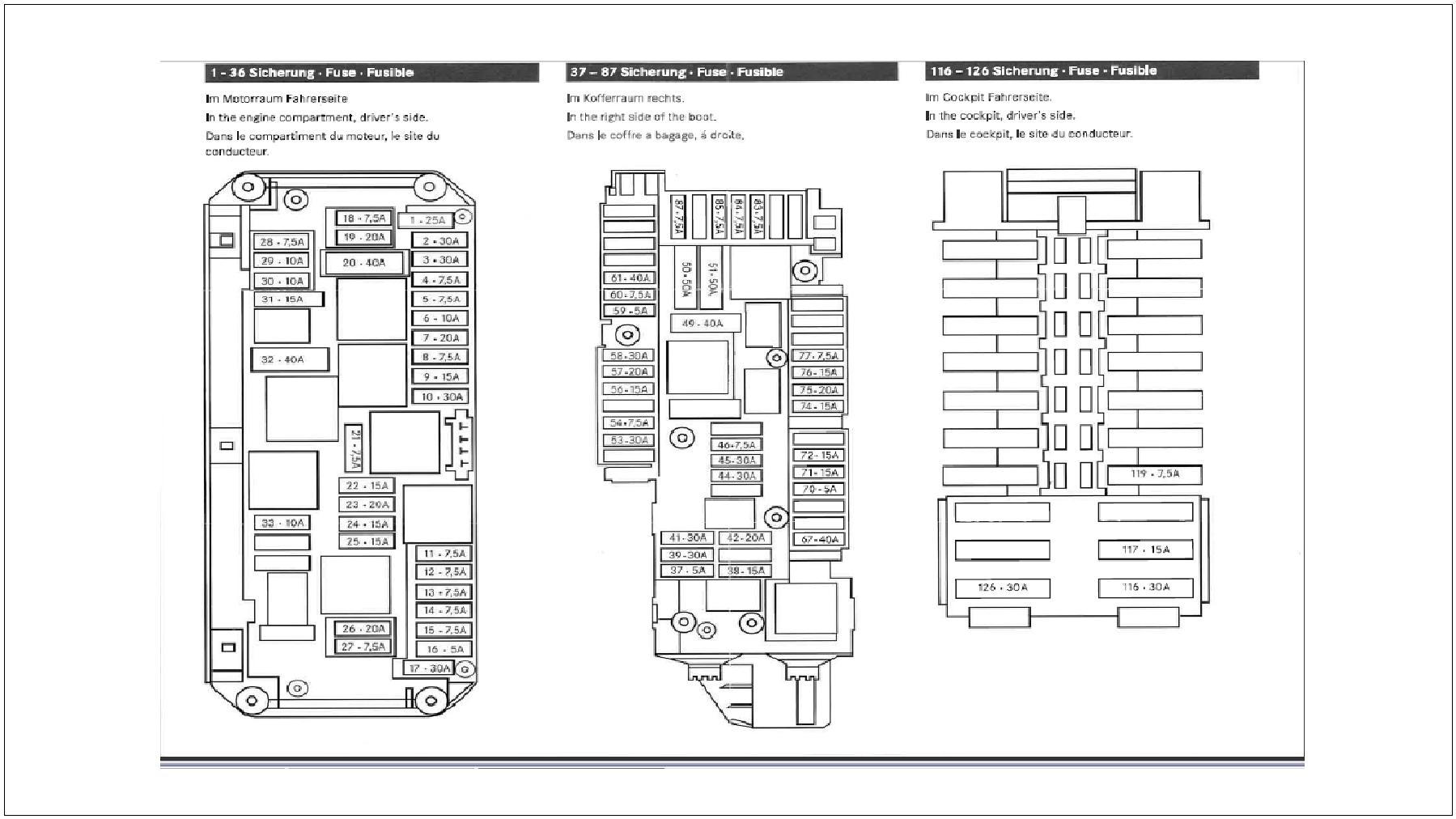 2008 Mercedes C300 Fuse Diagram