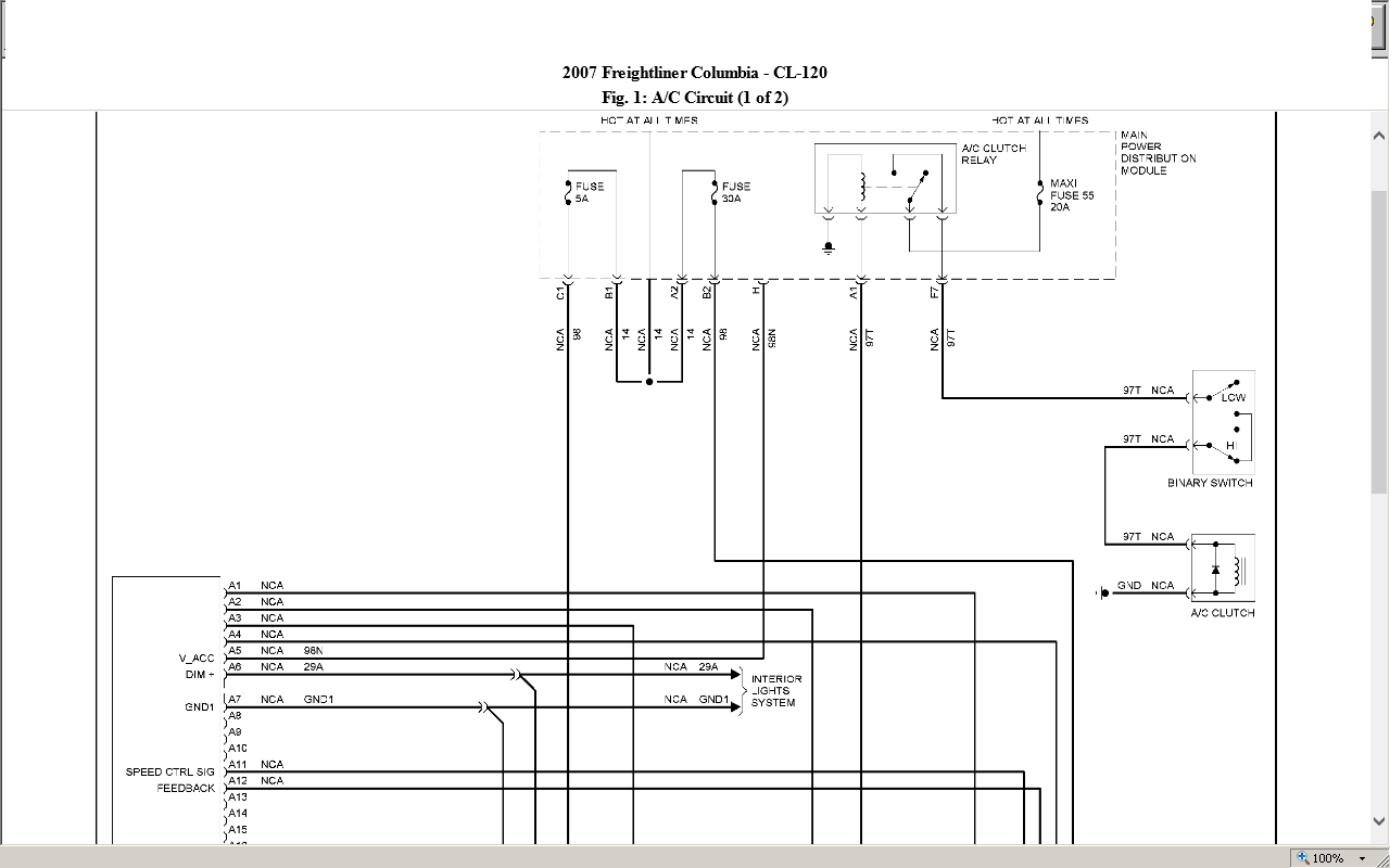 Diagram 2011 Freightliner M2 Ac Wiring Diagram