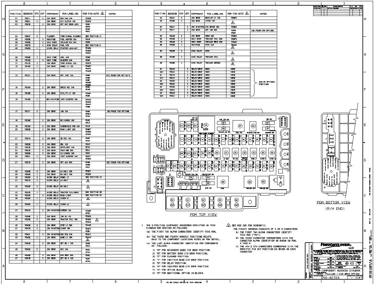 2014 Freightliner Cascadia Fuse Box Diagram
