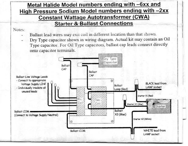 metal halide wiring diagram wiring diagrams  100 watt metal halide wiring diagram #9