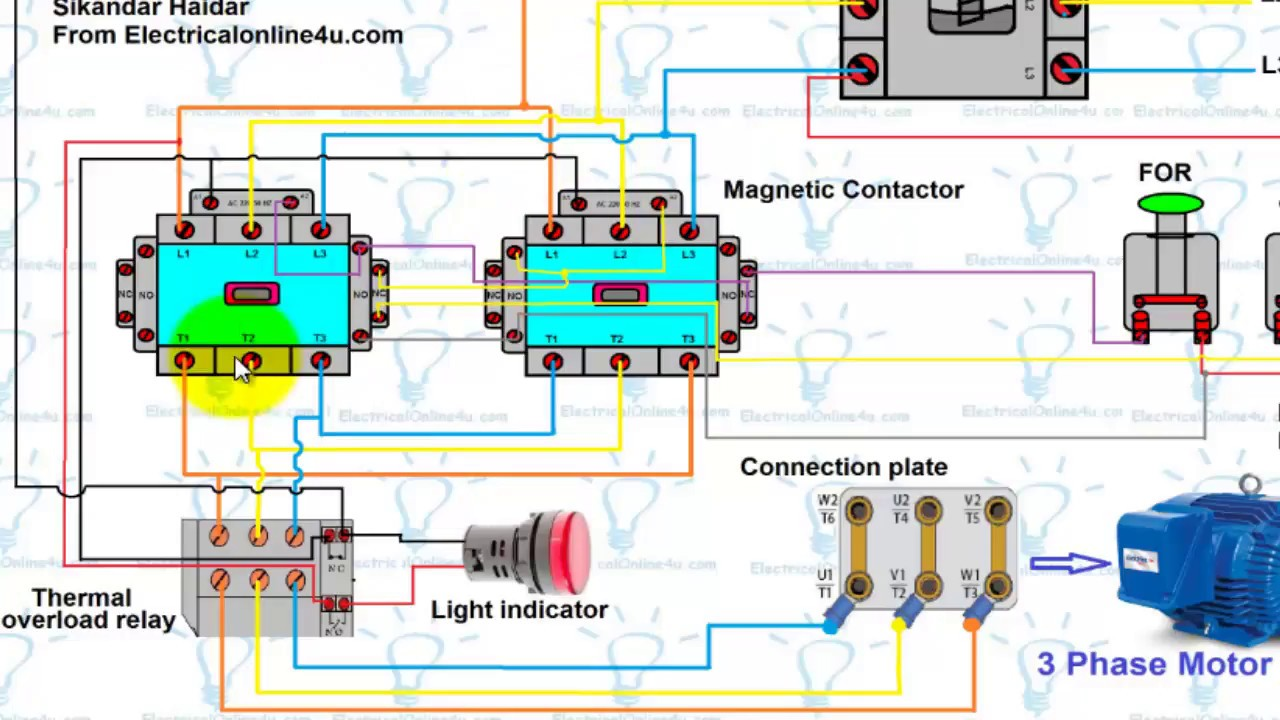 Single Phase Reversing Motor Wiring Diagram from diagramweb.net