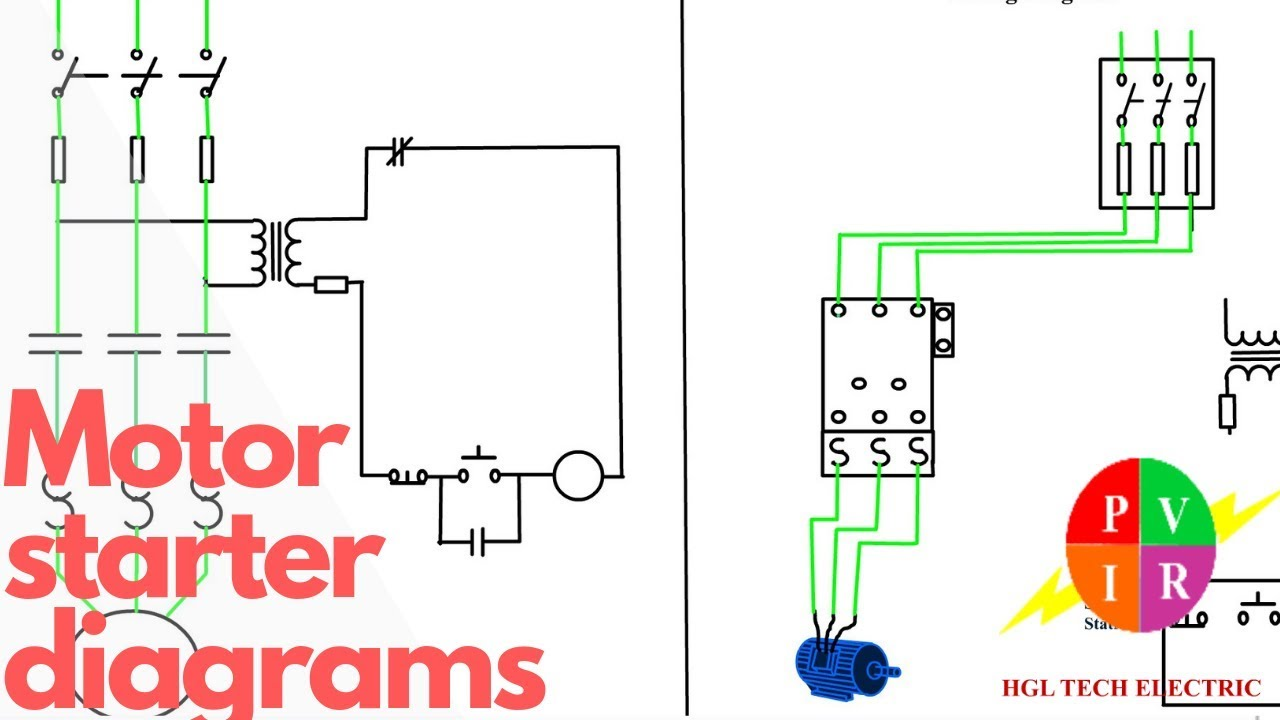 Reversing Motor Starter Wiring Diagram from diagramweb.net