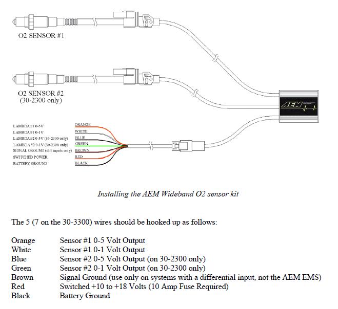 Aem Wideband Wiring Diagram 16v Car