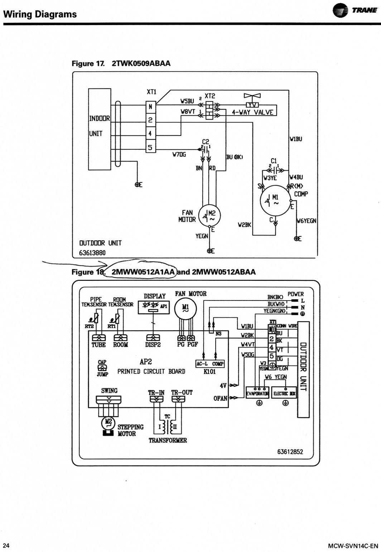 Air Handler Wiring Diagram Trane Model Number Twe040e13fb2