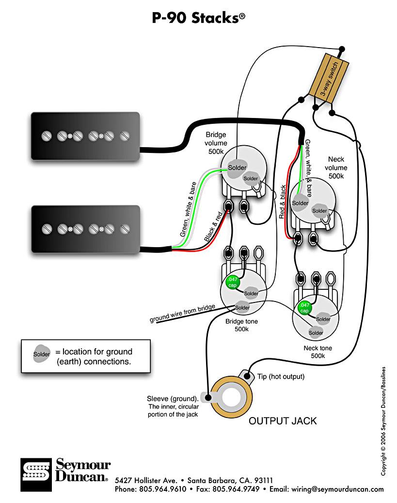 Alternate P90 Wiring Diagram