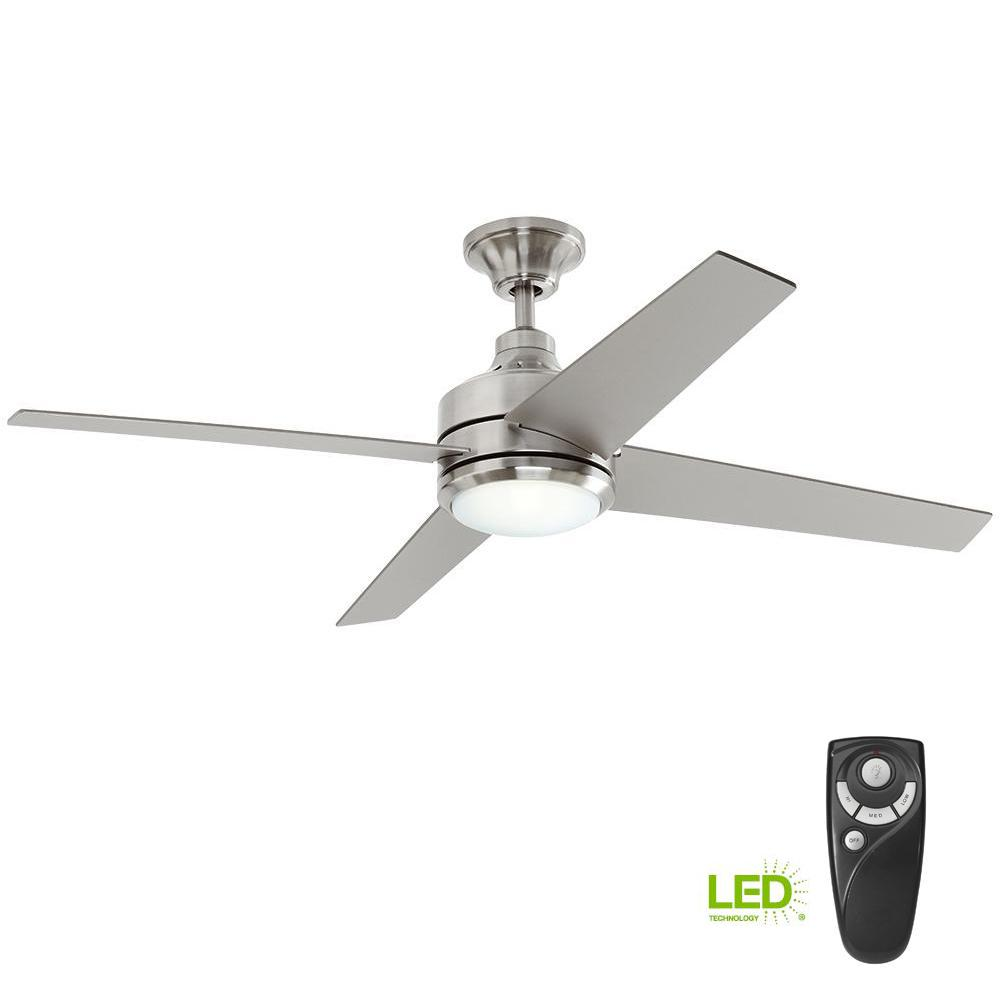 Anderson 22 In  Led Indoor  Outdoor Brushed Nickel Ceiling