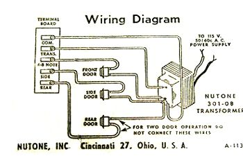 Angelo Brothers Doorbell 76011 Wiring Diagram on