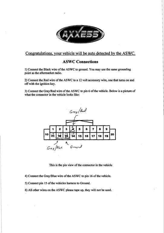 Axxess Aswc 1 Wiring Diagram