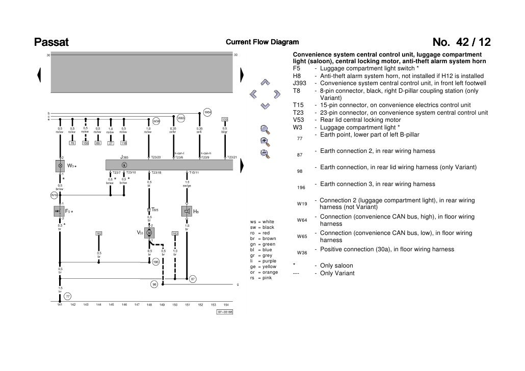 B5 Passat Side Marker Wiring Diagram