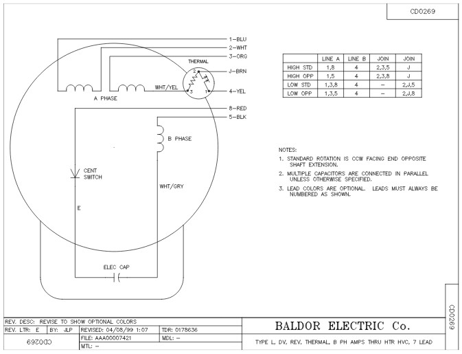 Baldor 30 Hp Low Volt Wiring Diagram