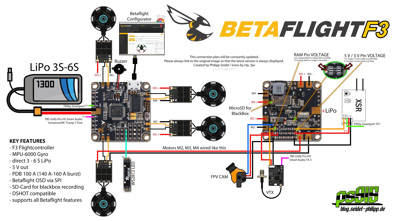 Betaflight F4 Wiring Diagram
