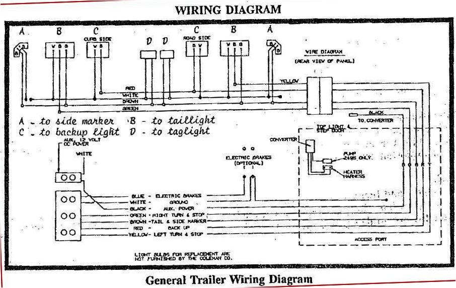Bonair Tent Trailer Wiring Diagram