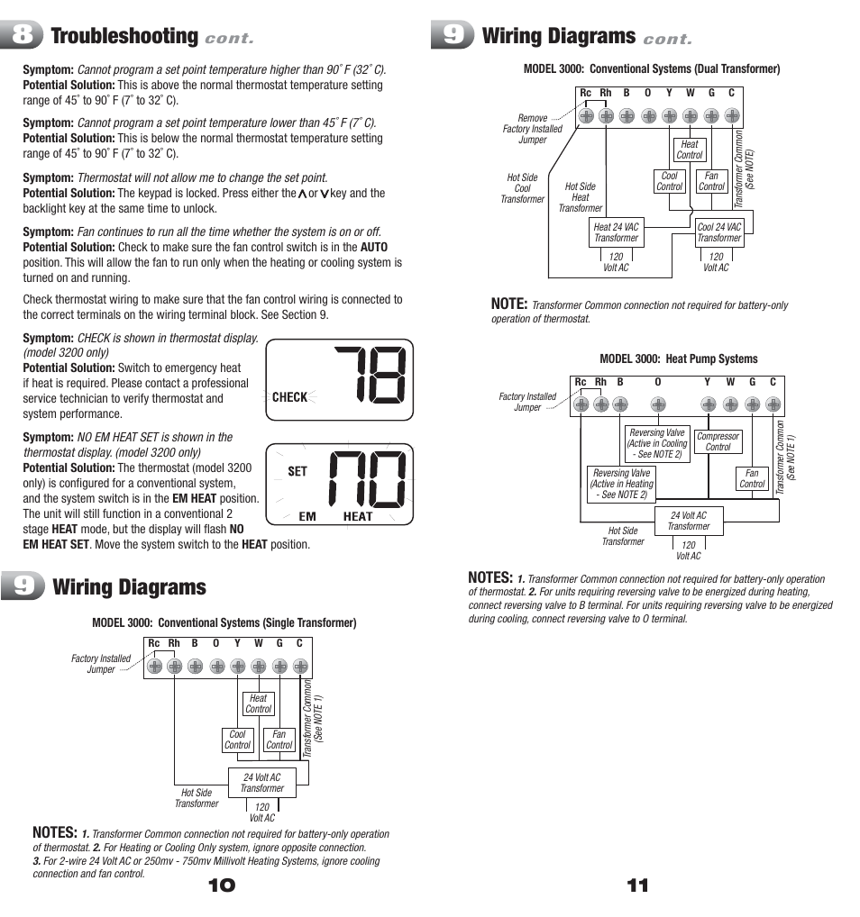 Braeburn Model 3000 Wiring Diagram