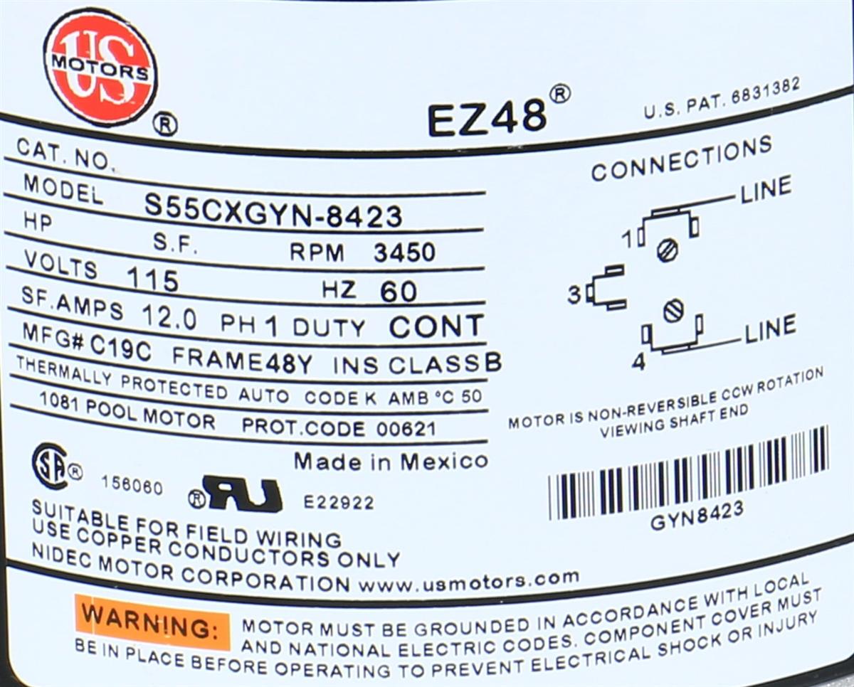 Century Centurion 1.5hp Pool Pump 230v Wiring Diagram on