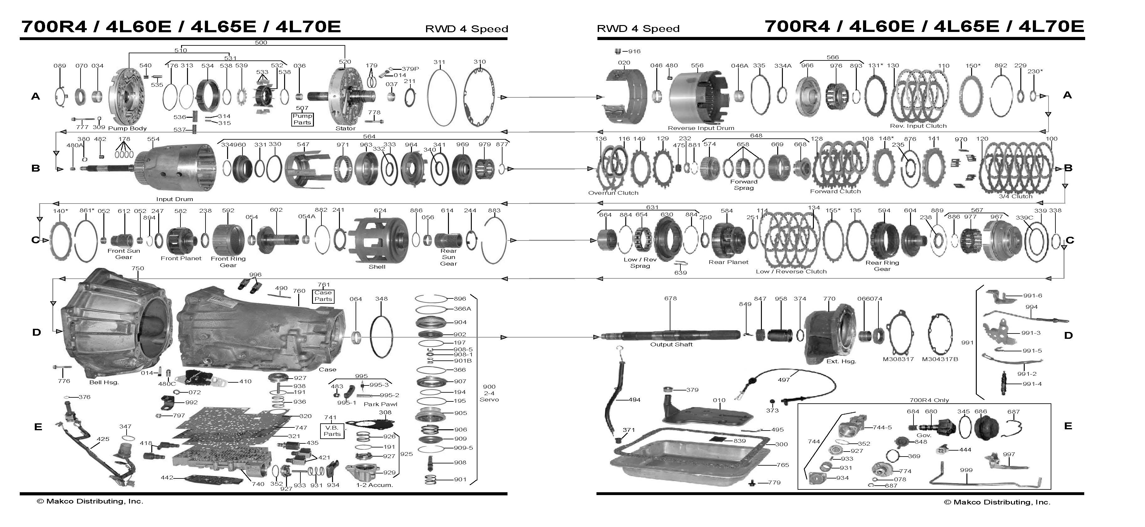 Chevy 700r Transmission Diagram Not Lossing Wiring Rh Diagramweb Net Automatic 700r4