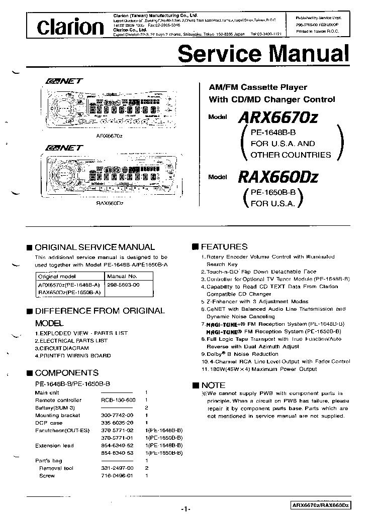 Clarion Cmd4a Wiring Diagram