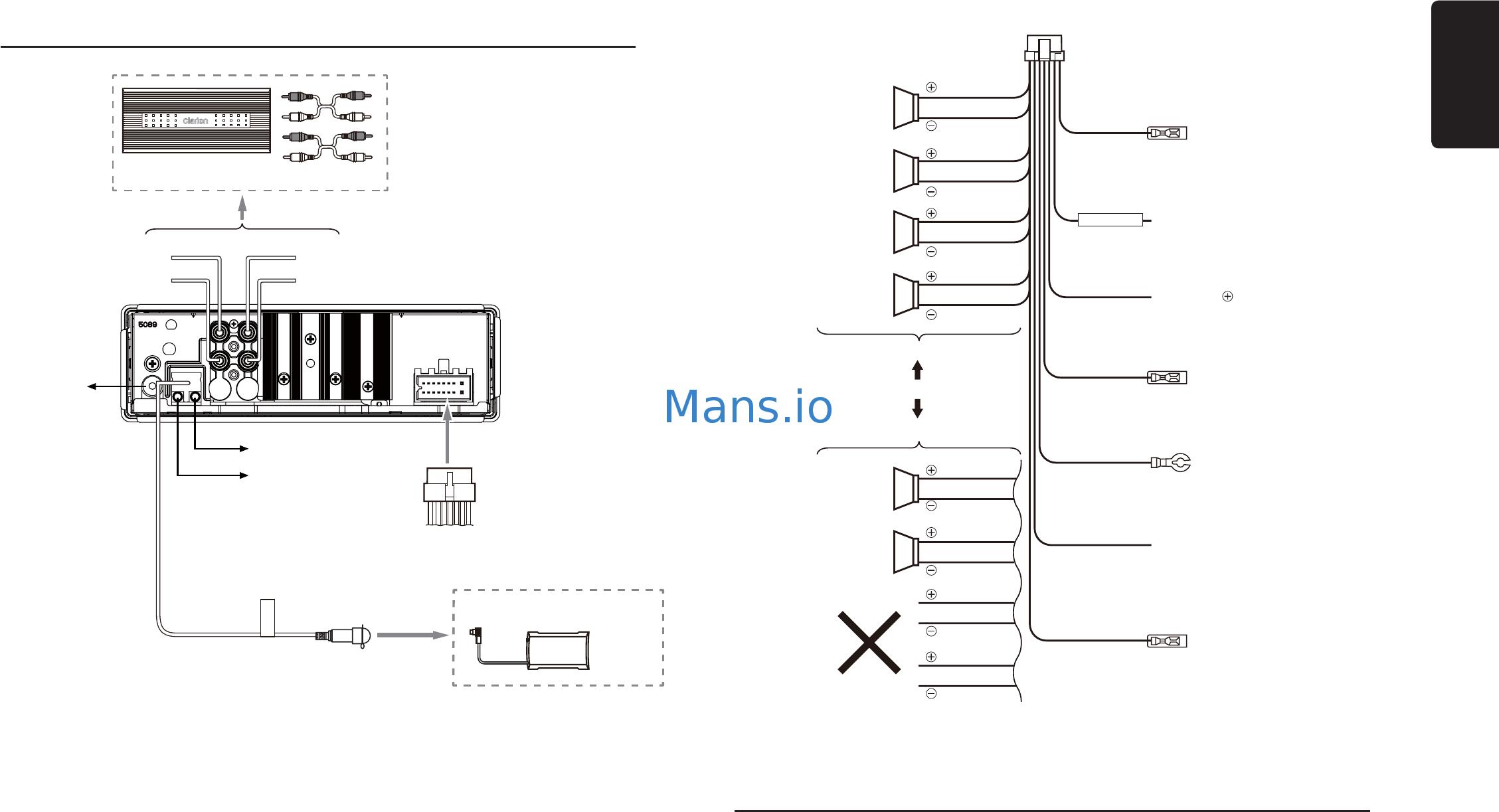 Clarion Vrx485vd Wiring Diagram Full