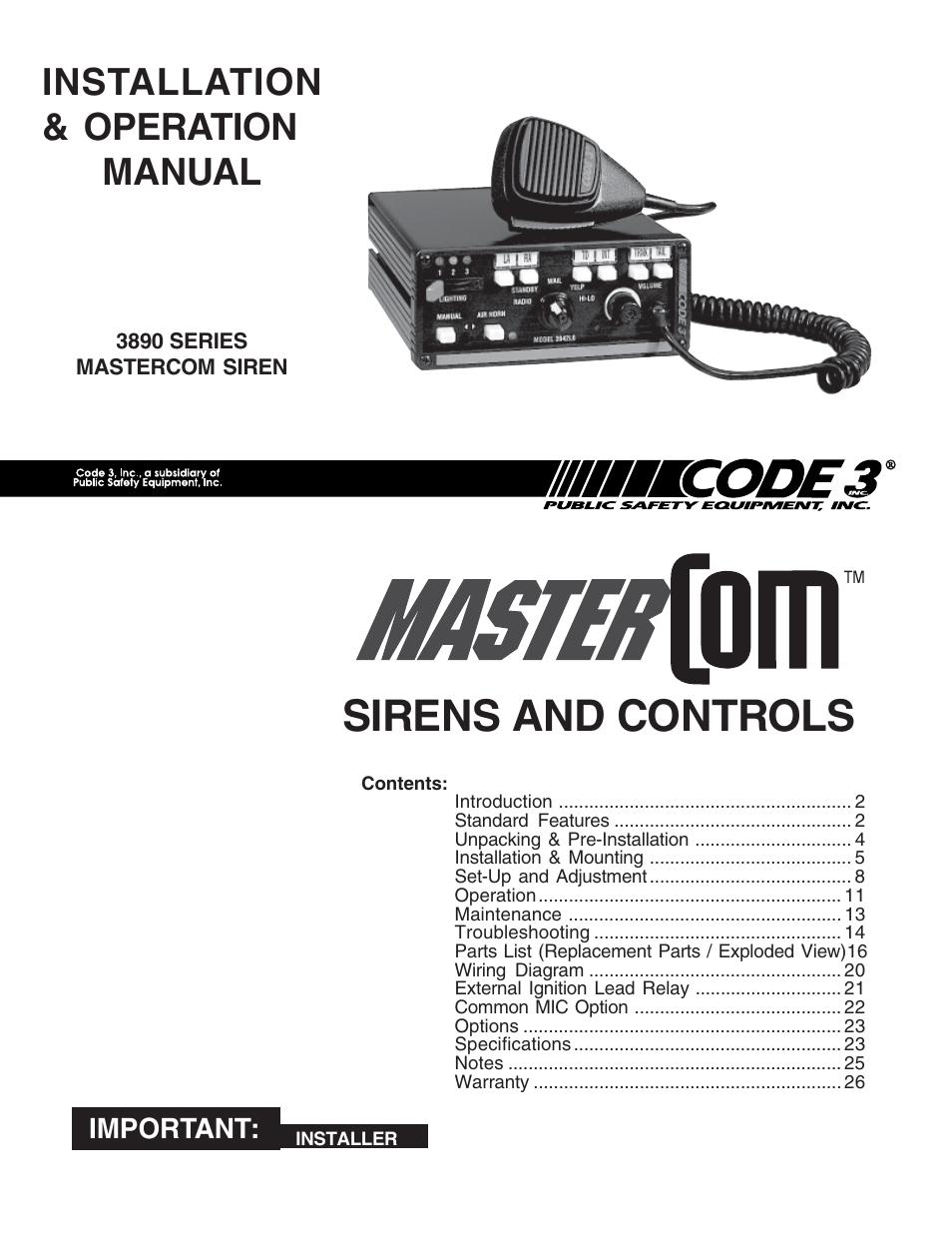 Code 3 Mastercom Wiring Diagram