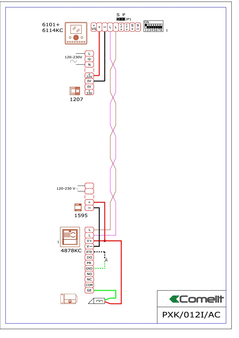 Comelit Style 5 Wiring Diagram