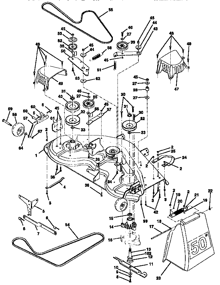 Craftsman Gt5000 Parts Wiring Diagram Bolens Drive Belt Diagram