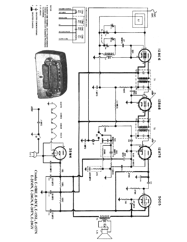 Crossley E15 Wiring Diagram
