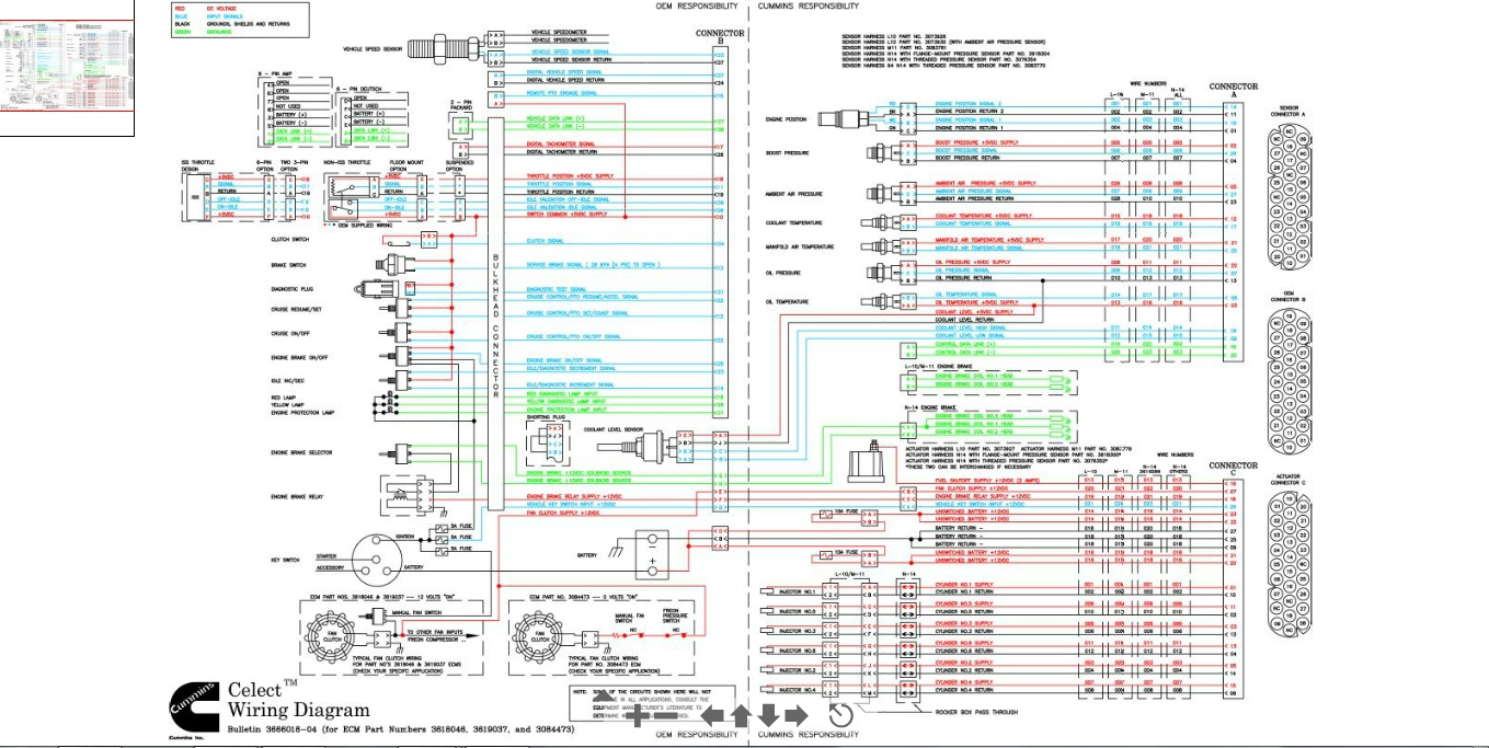 Cummins N14 Celect Wiring Diagram
