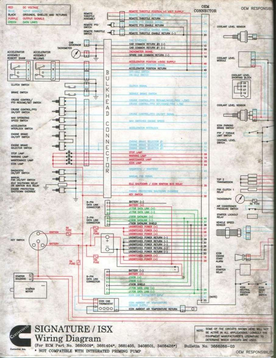 Cummins Signature   Isx Wiring Diagram